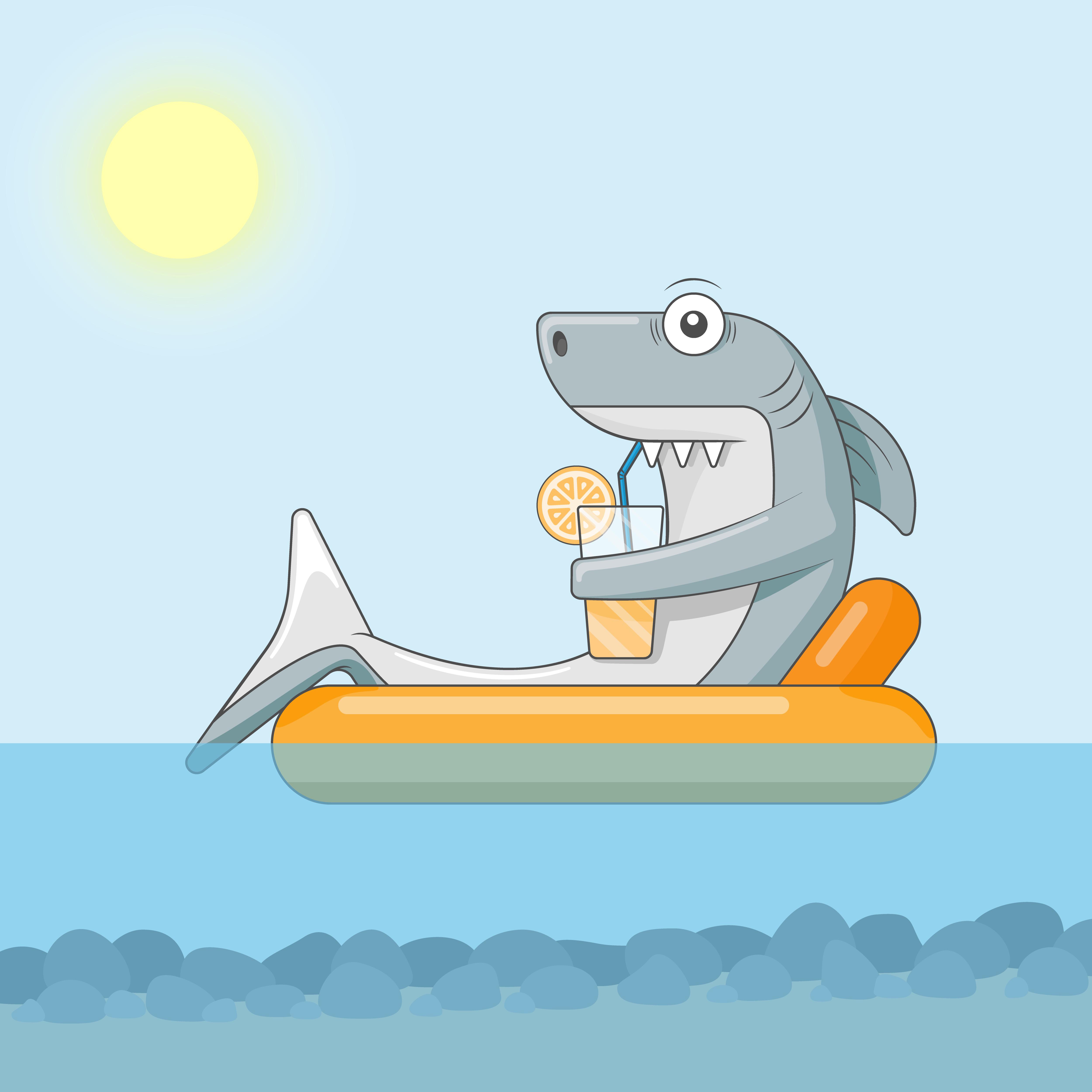 Акула отдыхает от web-программирования